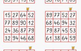 zahlen bingo